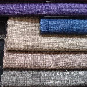 Polyester Sofa Linen Fabric with Thick Backing for Decoration pictures & photos