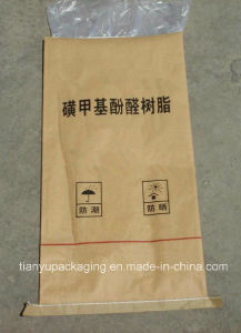 Moistureproof Thin Film Composite Kraft Paper Bag pictures & photos