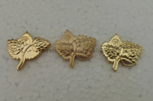 3D Gold Plated Pin Badges