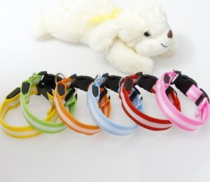 Factory Direct Selling Night Safety Transparent Binding Dog Collar