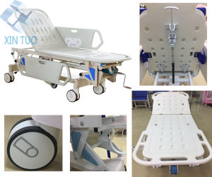 Factory Direct Patient Transfer Operating Room Connecting Trolley pictures & photos