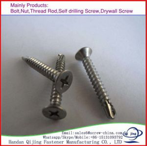 Zinc Flat Head Fibre Board Screw Chipboard Screw to Wood pictures & photos