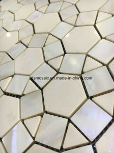 Circle Flower Marble and Shell Mosaic pictures & photos