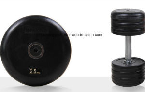 SDH Dumbbell Set with Rubber Plate and Chromed Bar pictures & photos