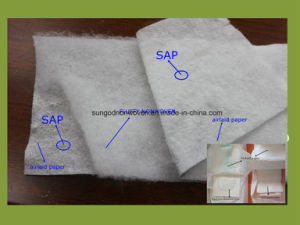 Fluff Pulp Airlaid Paper with Sap Coated with PE Film pictures & photos