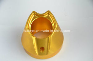 OEM CNC Machining Motor Parts with Gold Anodization pictures & photos