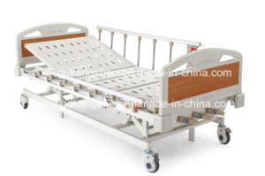 Three-Cranks Manual High-Low Adjustable Hospital Bed pictures & photos