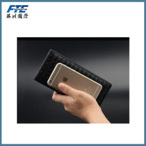 Fashion High Quality Long Leather Men Woven Wallet pictures & photos