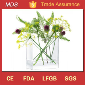 Mouthblown Sealable Square Glass Flower Vase Arrangement pictures & photos