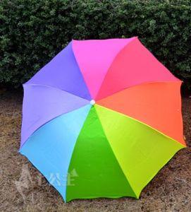 Hot Sale Manual Nylon Outdoor 3 Foldable Rain Umbrella