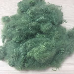 Green Polyester Staple Fiber, Colored PSF, Pet Bottles Recycle Polyester Staple pictures & photos