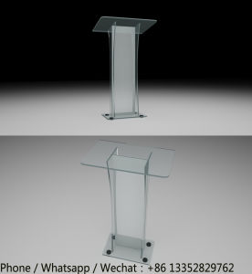 Hand Made Clear Acrylic Lecture Table pictures & photos