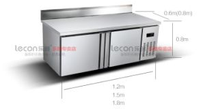 Commercial Stainless Steel Work Table Kitchen Refrigerator with Backboard pictures & photos