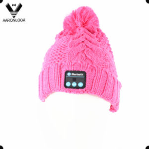 Fashion Girls Winter Warm Bluetooth Knit Hat Cable Pattern