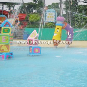 Building Block Spray, Aqua Play Equipment for Water Park pictures & photos