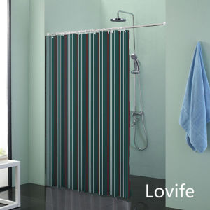 Shower Curtain Bathroom Waterproof Curtain (JG-215) pictures & photos