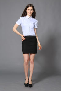 Fashion New Design Lady Office Wear Shirt--Md1a8366 pictures & photos