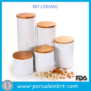 Wholesale Brief Kitchen Set Ceramic Jar with Lid pictures & photos