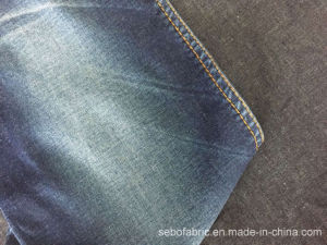 32s Cotton Stretch Denim Fabric with T-Shirt