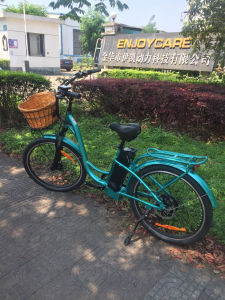 26inch Electric City Bicycle with Front Basket Middle Battery pictures & photos