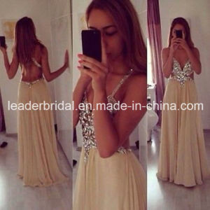 Cross Back Vestidos Prom Party Cocktail Dresses Sexy Crystal Evening Dress Y1029 pictures & photos