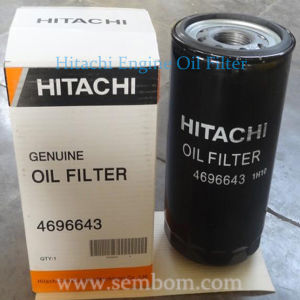 High Performance Engine Oil Filter for Hitachi Excavator/Loader/Bulldozer
