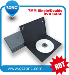 7mm Single Black DVD PP Cases with Good Locked Film CD Case pictures & photos