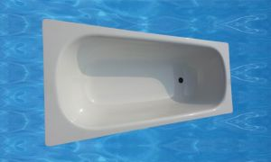 170X70X39cm Simple White Steel Enamel Bathtub pictures & photos