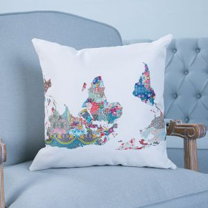 Digital Print Decorative Cushion/Pillow with Watercolor Botanical&Floral Pattern (MX-42) pictures & photos