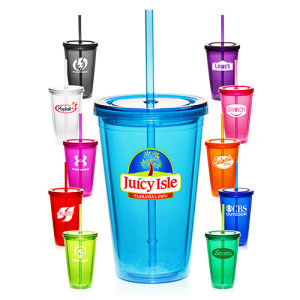 Plastic Tumbler with Straw Promotional Mugs pictures & photos