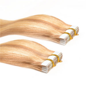 "20"" 100% Remy Tape Hair, PU Skin Weft 100g/Set 40PCS Tape in Human Hair Extensions pictures & photos"