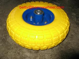 PU Foam Wheel 3.50-4 Flat Free PU Foam Wheel 3.50-4 pictures & photos