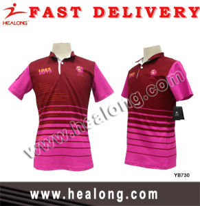 100% Polyester Sublimaiton New Design Polo T Shirt for Women pictures & photos