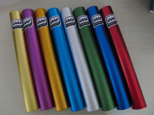 Colorized Iaaf Certification Aluminum Alloy Relay Baton (SA-058) pictures & photos