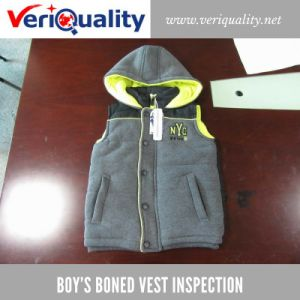 Boy′s Boned Vest Quality Control Inspection Service at Jinjiang, Fujian pictures & photos