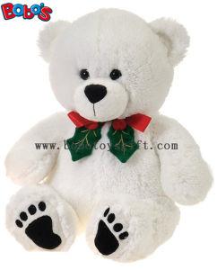"""11""""White Xmas Soft Plush Teddy Bear Christmas Toy pictures & photos"""
