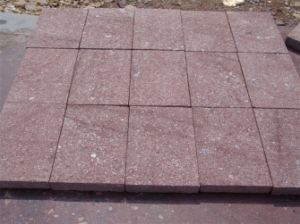Flamed Putian Red Granite Tile with White Dots pictures & photos