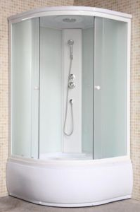 Russia Bathroom Complete Corner White Shower Cabin for Sale Price pictures & photos
