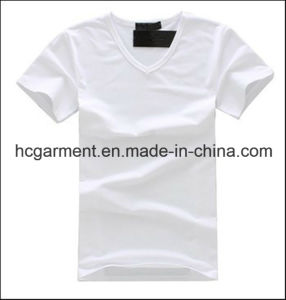 Man′s Cotton T-Shirt, Causal Sports Wear Solid Color Shirts pictures & photos
