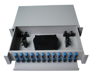 Fiber Optic Patch Panel/ODF/ 48 Cores Slidable Rack Mount Type pictures & photos