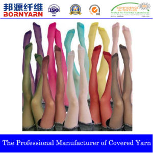 Spandex Covered Yarn with Polyester for Pantyghose pictures & photos