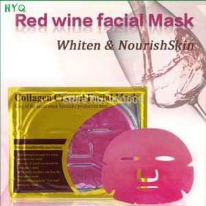 High Quality Popular Skin Care Collagen Crystal Series Red Wine Facial Mask Whitening and Moisturizing Facial Mask pictures & photos
