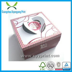 Luxury Packaging Paper Cake Box with Foil Stamping pictures & photos
