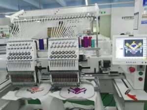 Wonyo 2 Heads Computerized Embroidery Machine Wy1202c Matsushita Electric Motor pictures & photos