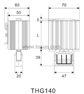 Thg140 Heater for Panel Board with IP20/I (earthed) pictures & photos