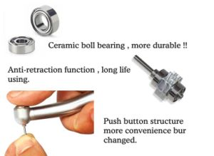 Dental LED High Speed Handpiece with Ce Approved pictures & photos