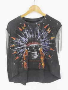 Women Street Style Hippy Printed Washing T-Shirts pictures & photos