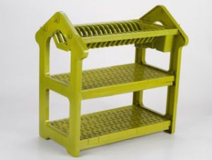 Colorful ABS Kitchen Dish Drainer Rack 3 Layers Dr16-Hcs pictures & photos