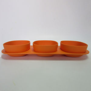 S/3 Bamboo Fiber Flavor Dish Solid Color Table Ware pictures & photos