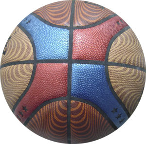5# 12 Slices PVC Laminated Sport Basketball pictures & photos